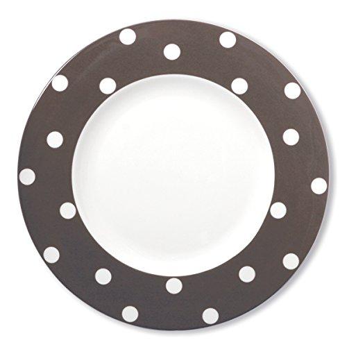 Bruno Evrard Assiette Plate à Pois Vison en Porcelaine 29cm - Lot de 6 - Freshness Dots