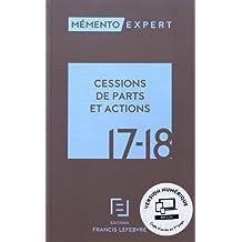 MEMENTO CESSIONS DE PARTS ET ACTIONS 2017-2018