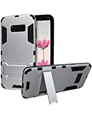 """Coque Samsung Galaxy S8 Plus, Rosa Schleife Slim Heavy Duty Armor Coque 2 in 1 Hybrid Hard Back Coque Silicone Housse Etui Rugged Cover avec Kickstand Support Bumper Case pour Samsung Galaxy S8 Plus (6.2"""")"""