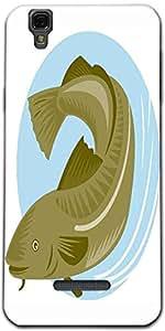 Snoogg Atlantic Codfish Retro Designer Protective Back Case Cover For Microma...
