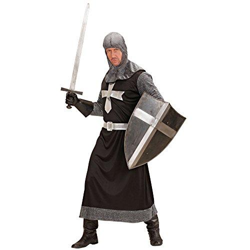 Imagen de disfraz de caballero medieval negro para hombre alternativa