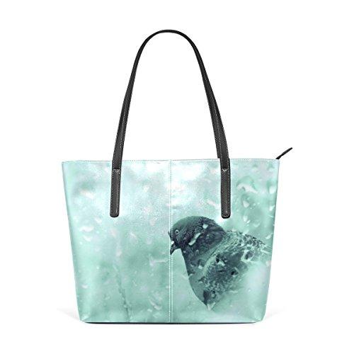 DEYYA Damen Kundenspezifische Elefant Indien Aztec Tribal PU-Leder beiläufige Schultertasche Top Griff Handtaschen-Kurier Einheitsgröße ()