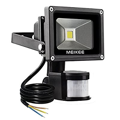 MEIKEE 10W Motion Sensor Light,Super bright LED Flood Lights, High Output 750lumen, 60W Halogen Lights Equivalent Replacement, Daylight White, Waterproof , Security Light, PIR Floodlight[Energy Class A+] produced by MEIKEE Outdoor LED Lighting - quick del