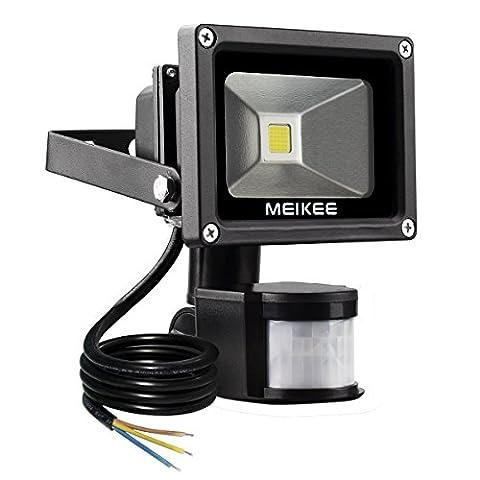 MEIKEE Projecteur LED détecteur de mouvement 10W Lumière led mural