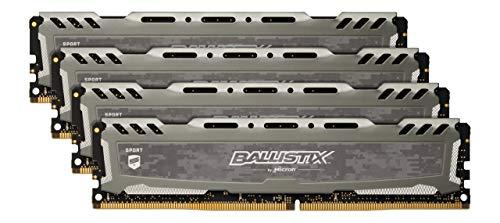 Ballistix Sport LT BLS4K16G4D32AESB 64GB (16GB x4) Speicher Kit (DDR4, 3200 MT/s, PC4-25600, CL16, Dual Rank x8, DIMM, 288-Pin) grau -