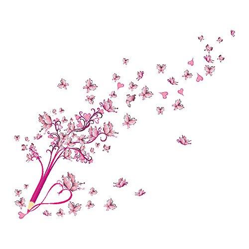 ODJOY-FAN Pittura Impermeabile Decorazione Adesivo da Parete New Flower Fairy Adesivi Fai Te Piccoli Angelo Fata Pareti del Soggiorno della Camera Letto-Parete Removibile Muro Decorazio