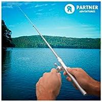 Partner Adventures IG109785 Caña de Pescar Bolígrafo, Plateado, Talla Única