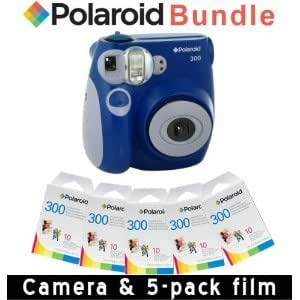 Polaroid PIC-300 Instant Camera in Blue + Accessory Kit