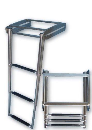 Preisvergleich Produktbild Teleskop-Badeleiter Edelstahl z. Montage unter die Plattform
