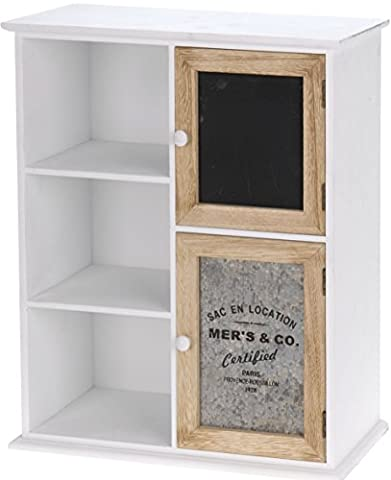Holz Kästchen im Landhaus Stil - Mini Kommode mit 5 Fächern - Regal Ablage Aufbewahrung
