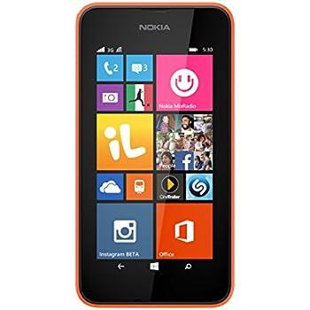 Nokia Lumia 530 Smartphone, 4 GB, Arancione [Italia]