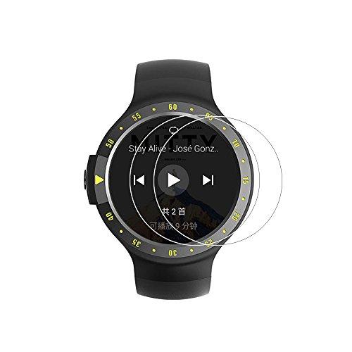 (2PACK) Ticwatch S Screen Protector, copertura completa 9H durezza pellicola proteggi schermo in vetro temprato per Ticwatch S Smart Watch con anti-impronte trasparente cristallo trasparente