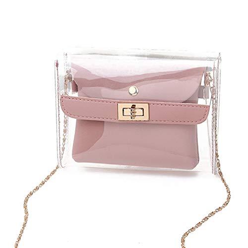 Lady Shoulders Jelly Paket Brief Geldbörse Handy Umhängetasche Lady Transparent Jelly Pack Pink - Kulturbeutel Ziel
