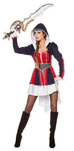 riegerin Kämpferin Kostüm Damen sexy Damen-Kostüm Größe 34 (Ninja-kostüme Für Frauen)