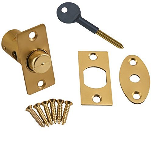 Bulk Hardware BH02051 Bolzen und Schlüssel für Fensterabstellvorrichtung 32 mm, Weiß