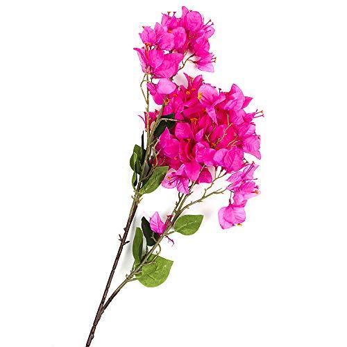 Li HUA Katzen Künstliche Blumen Dekoration Bougainvillea Spectabilis willd Seide Tuch Blumen Sea Bright Ihr Zuhause für Home Decor Tisch Decor DIY Blumenarrangement, Plastik, Style 2-Rose Red, 86cm