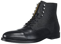Aldo Mens Semaj Ankle Bootie, Black Leather, 9 D US