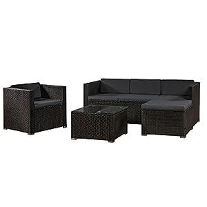 Polyrattan Gartenmöbel Lounge | Deine-Wohnideen.de