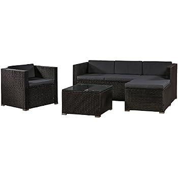 Amazon.de: XINRO® XXXL Polyrattan Lounge Set Lounge Möbel