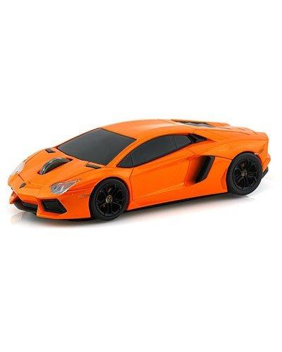 souris-sans-fil-voiture-lamborghini-aventador-orange