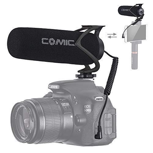 Comica Richtmikrofon Kamera Mikrofon Shotgun DSLR Video Mikrofon Kondensator für Videos Super-Kardioid CVM-V30LITE für Canon Sony Nikon Panasonic Camcorder Smartphone