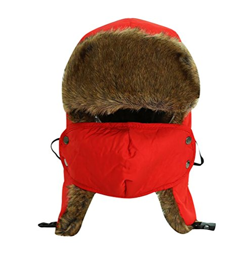 Baymate Unisex Outdoor Waterproof Trapper Hat Ushanka Russian Hat