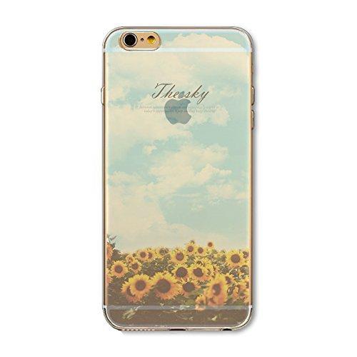 Coque iPhone 6 6s Housse étui-Case Transparent Liquid Crystal en TPU Silicone Clair,Protection Ultra Mince Premium,Coque Prime pour iPhone 6 6s-Paysage-style 8 9