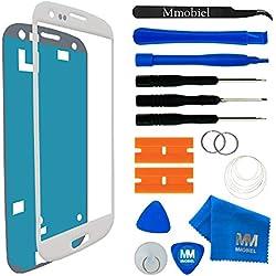 MMOBIEL Écran Tactile Compatible avec Samsung Galaxy S3 Mini i8190 i8195 Series (Blanc) avec Kit d'Outils Complet