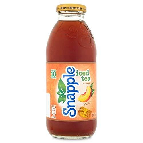 6x Snapple Pfirsich Eistee Keinen Zucker 473Ml