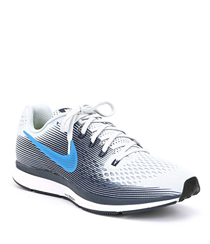 Nike Men's's Air Zoom Pegasus 34 Competition Running Shoes Multicolour (Pure PlatinumPhoto Thunder Blue 008) 13 UK