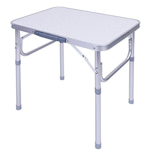Ejoyous Aluminium Klapptisch Campingtisch, Alutisch faltbar und Höhenverstellbar 45x60cm Gartentisch Picknicktisch Beistelltisch Falttisch