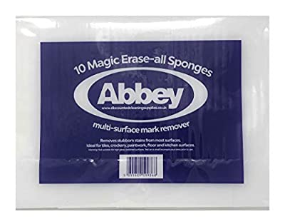 10 Abbey Magic Eraser Sponges - For Stain and Mark Removal without the need for Chemcials : everything £5 (or less!)