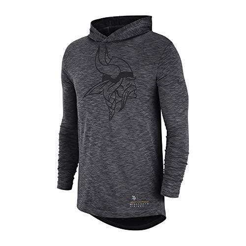 Nike NFL Minnesota Vikings Slub Long Sleeve T-Shirt Hood