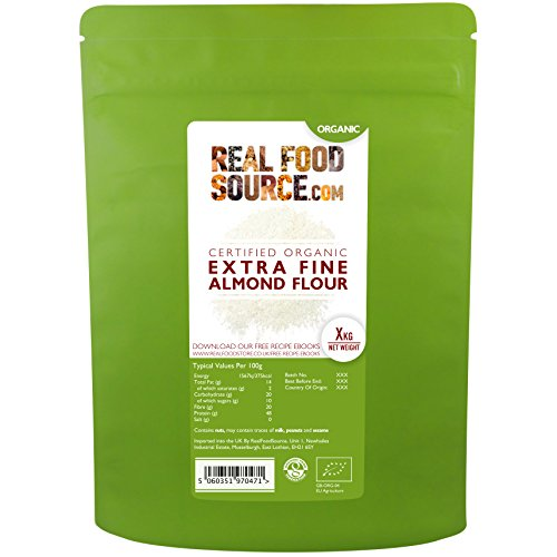 RealFoodSource Certified Organic Extra Fine High Protein Almond Flour (2KG)