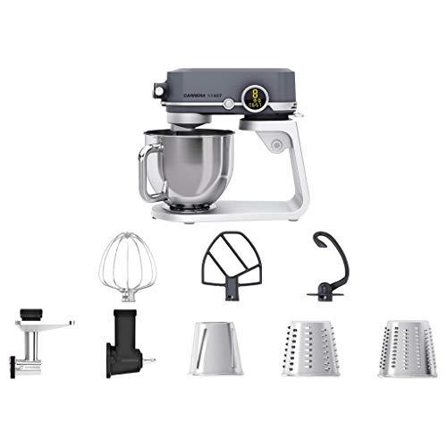 CARRERA Küchenmaschine No 657, Testsieger, 800 Watt, 5l, Edelstahl-Rührschüssel, Planetarisches Rührsystem