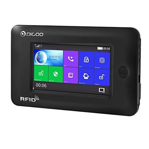 Digoo DG-HAMA Alle Touchscreen Alexa Version 433 MHz GSM & WIFI DIY Smart Home Alarmanlage Kits Schwarz