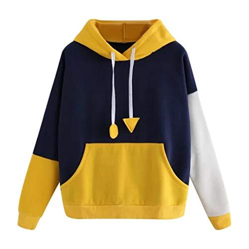 KaloryWee Womens Hoodie Sweatshirt Long Sleeve Jumper Hooded Pullover Tops Blouse