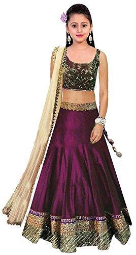Gloxi Fashion Girl\'s Semi-Stiched Lehngha Choli (Gl_Free size))