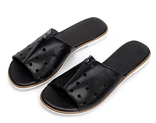 Wohnung mit flachen Sandalen Slipper Sommer weiblichen Pantoffeln Black