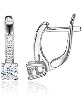 JewelryPalace 1ct Zirkonia Ohrklemme Ohrringe Damen 925 Sterling Silber