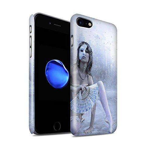 Officiel Elena Dudina Coque / Clipser Brillant Etui pour Apple iPhone 7 / Cerises Rouges Design / Un avec la Nature Collection Masque d'Hiver