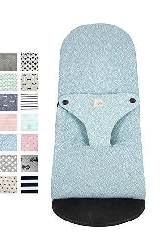 Fundas BCN ® - F185/6101 - Housse pour Transat Babybjörn ® Balance ® Soft ® et Bliss ®- Convient à tous les modèles - Imprimé Blue Safari