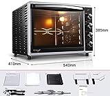 TRNMC Forno a casa multi-funzione automatica torta pane forno elettrico 52 litri di grande capacità,Sabbia nera,forno