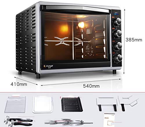 TRNMC Backofen zu Hause Backen Multifunktions-Automatische Kuchen Brot Elektroherd 52 Liter große Kapazität,Sand schwarz,Ofen