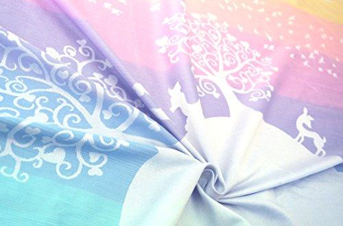 kokadi® Pañuelo Portabebés–Marie en el país de las maravillas multicolor degradado Talla:Gr.4 - 3.70m