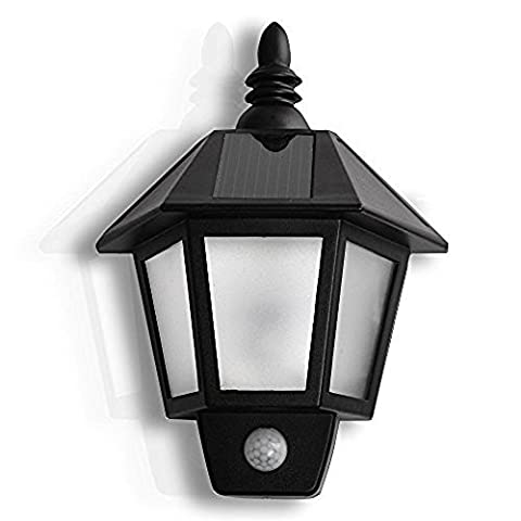Bestland Solar LED Light Waterproof Solar Power Infrared PIR Motion Sensor Wall Light with Two Smart Modes for Garden, Pool Pond Patio, Deck, Yard, Garden, Home, Driveway, Stairs, Outside Wall