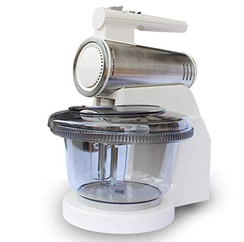 GPWDSN Standmixer Küchenmaschine, Handmixer 6-Gang-Adjustable 120w with No Knethaken Edelstahl-Fass 2.5L Backzutaten Creme Konditorei