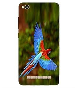 ColourCraft Beautiful Parrot Design Back Case Cover for Xiaomi Redmi 4a