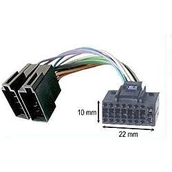 TechExpert Câble Adaptateur ISO autoradio JVC 16 pins 10 x 22 mm