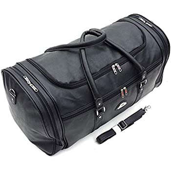 Personalised PU Leather look Weekend Bag Travel Holdall Hand Luggage Duffle Gym